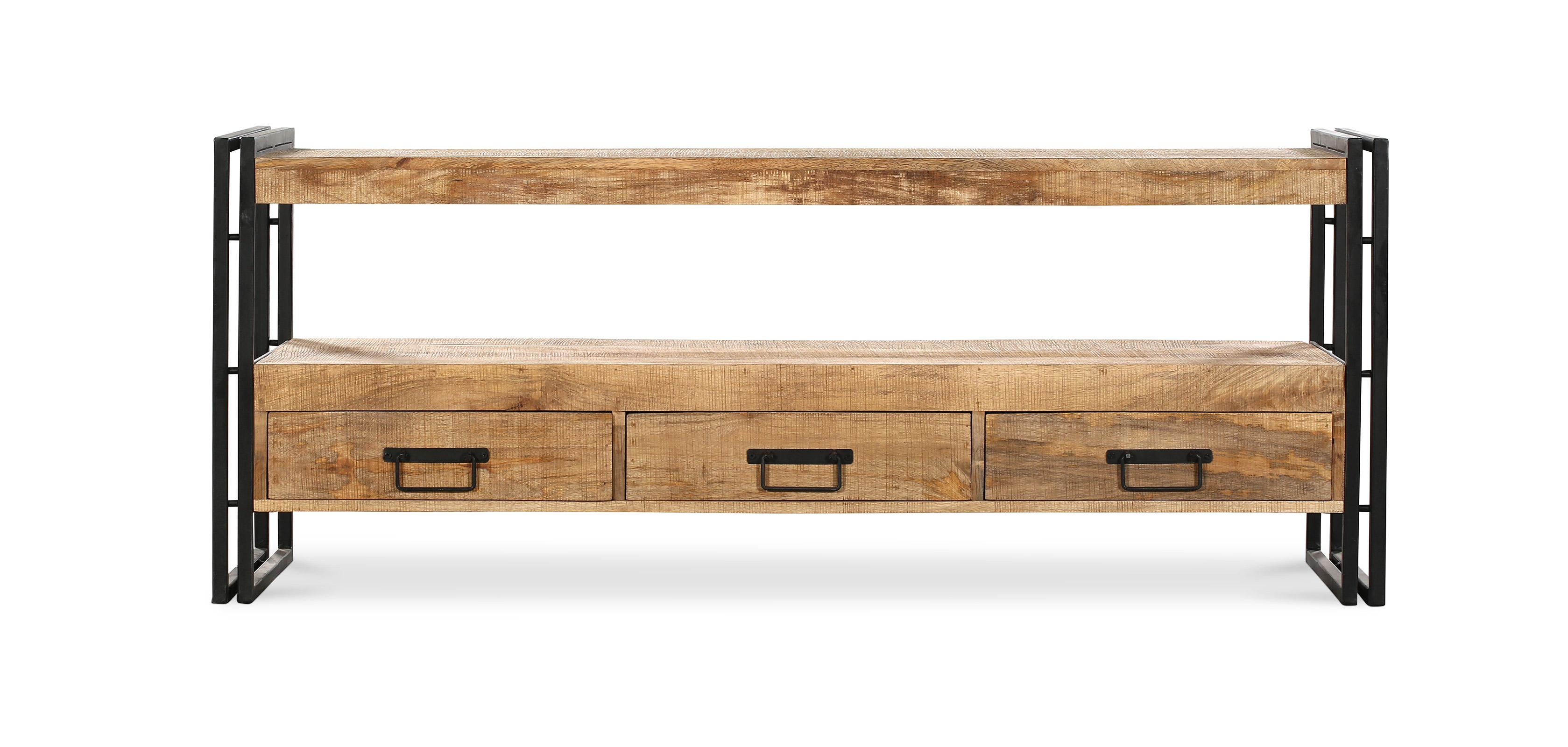 Mueble de tv de plasma onawa estilo industrial vintage for Muebles tv industrial